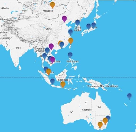 26 établissements Français de la zone Asie Pacifique